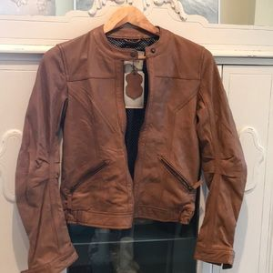 NWT Pull and Bear Genuine leather Jacket